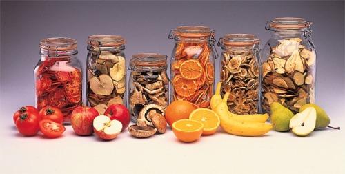 высушенные фрукты овощи